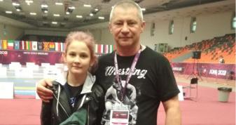 Наталія Нікітіч зі своїм тренером