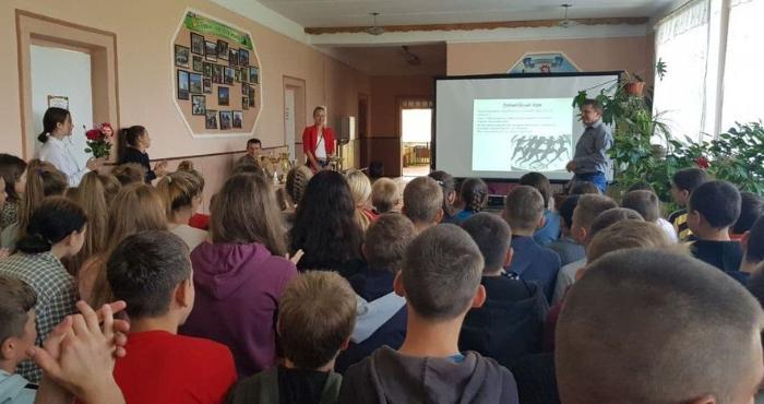 Учасниця Олімпійських ігор Лілія Фіськович у Заболотцівській школі