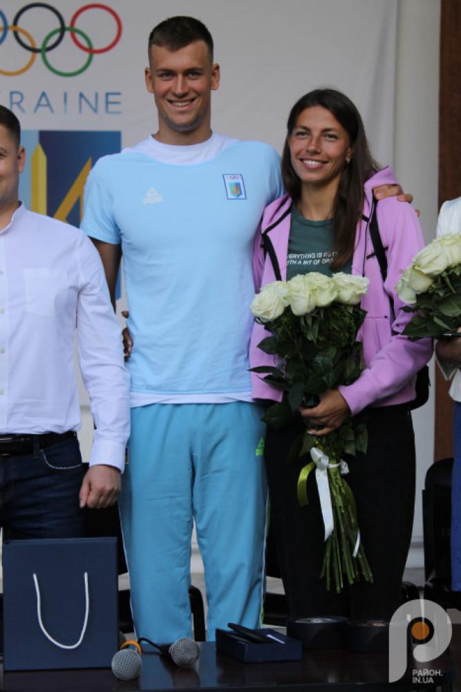 Михайло з дружиною, українською легкоатлеткою Мариною Бех-Романчук