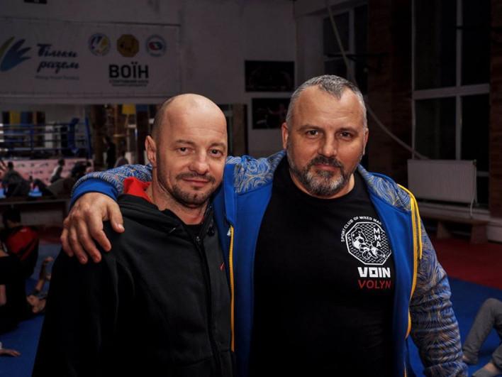 Тренери СК «Воїн» Андрій Зінчук та Дмитро Василенко