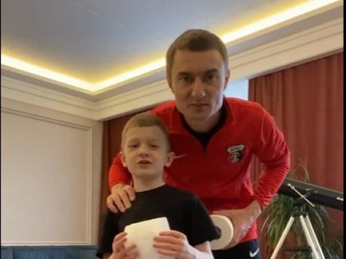 Андрій Біланчук зі сином