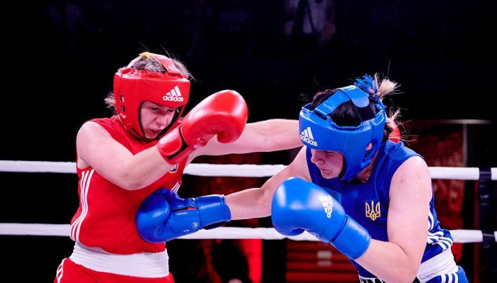 Тетяна Петрович під час Вечора боксу