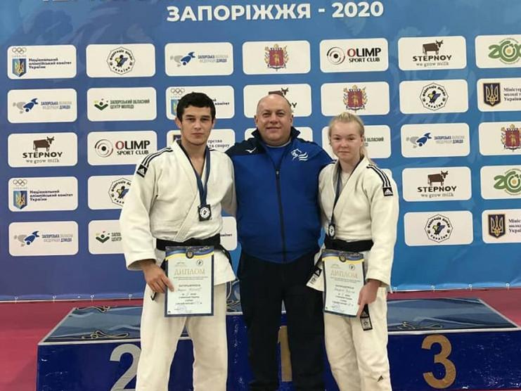 Вадим Чернов, Катерина Пилипюк та тренер Олександр Сікорський