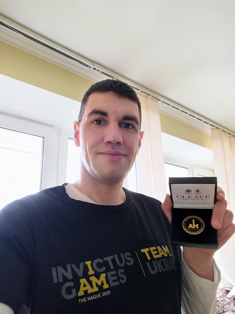 Іван Лепеха отримав пам'ятну відзнаку Invictus Games